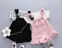 Load image into Gallery viewer, Striped Top Strap Shorts Cool Set