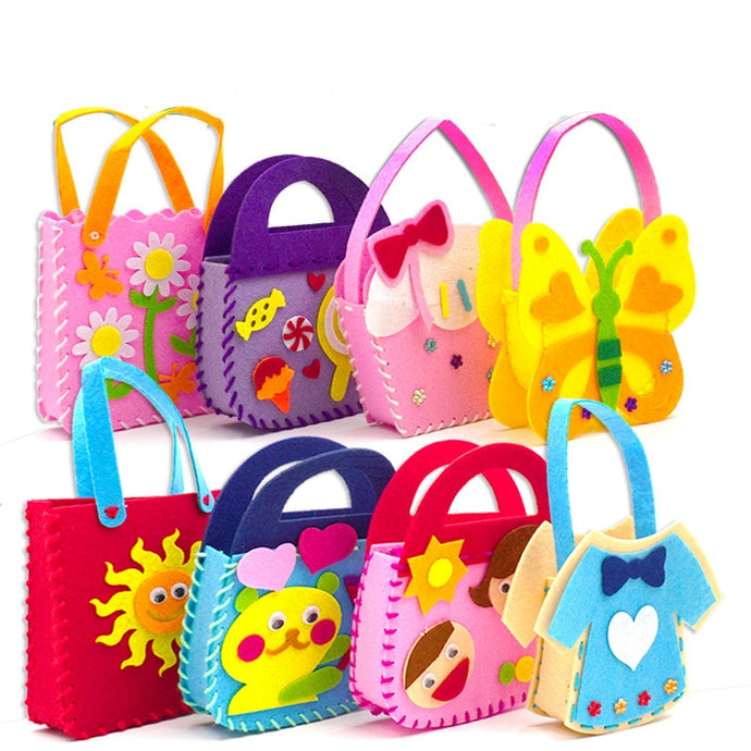 DIY Toy Animal Handigrafts Handbag for kids