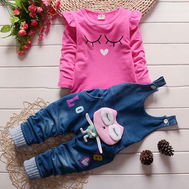 Baby Girls Clothing Set Children Denim Overall Jeans