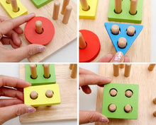 Load image into Gallery viewer, Wooden Geometry Shape Sorting Toy