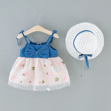 Load image into Gallery viewer, Cute Floral Ruffle Sleeveless + Sun Hat Set
