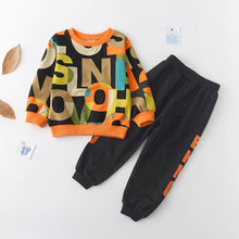 Load image into Gallery viewer, 2pcs Longsleeve Letter Print Children's Clothing