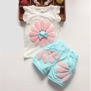 Candy Pattern Tops+shorts Set