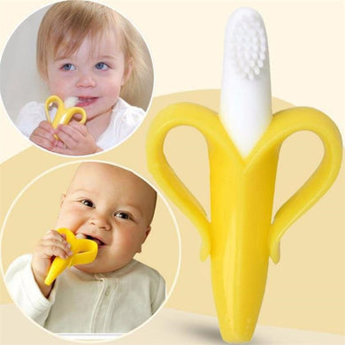 2in1 Banana Silicone Toothbrush Baby Teether