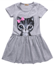Load image into Gallery viewer, Summer Cat Print Baby Girl Dress