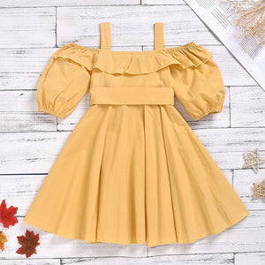 Fashion Girls Short Sleeve Cotton Dresses