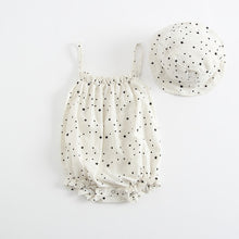Load image into Gallery viewer, Summer Baby Girl Outfit With Cap