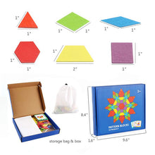 Load image into Gallery viewer, Wooden Tangram Pattern Puzzle Toy with 24 Designed cards