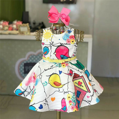 Kids Baby Girls Bird Princess Dress