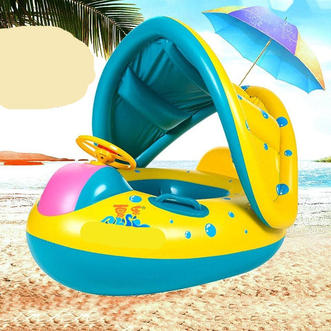 Baby Swimming Pool Inflatable Water Car with Sunshade