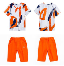 Load image into Gallery viewer, Children Colorful Short Sleeve Shirt and Shorts Set