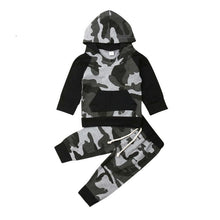 Load image into Gallery viewer, Tracksuit Camouflage Hoodie Outfits