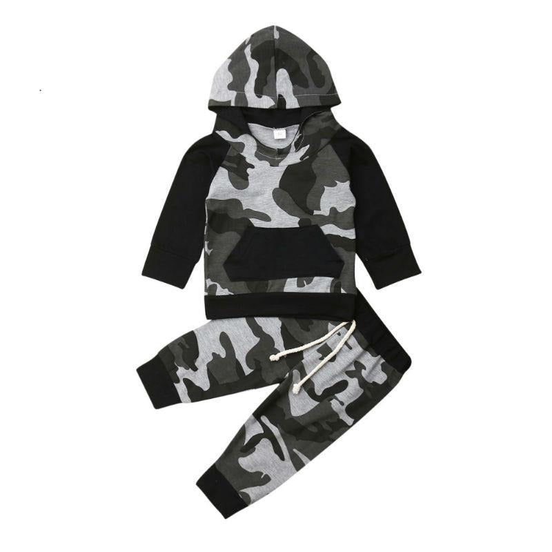 Tracksuit Camouflage Hoodie Outfits