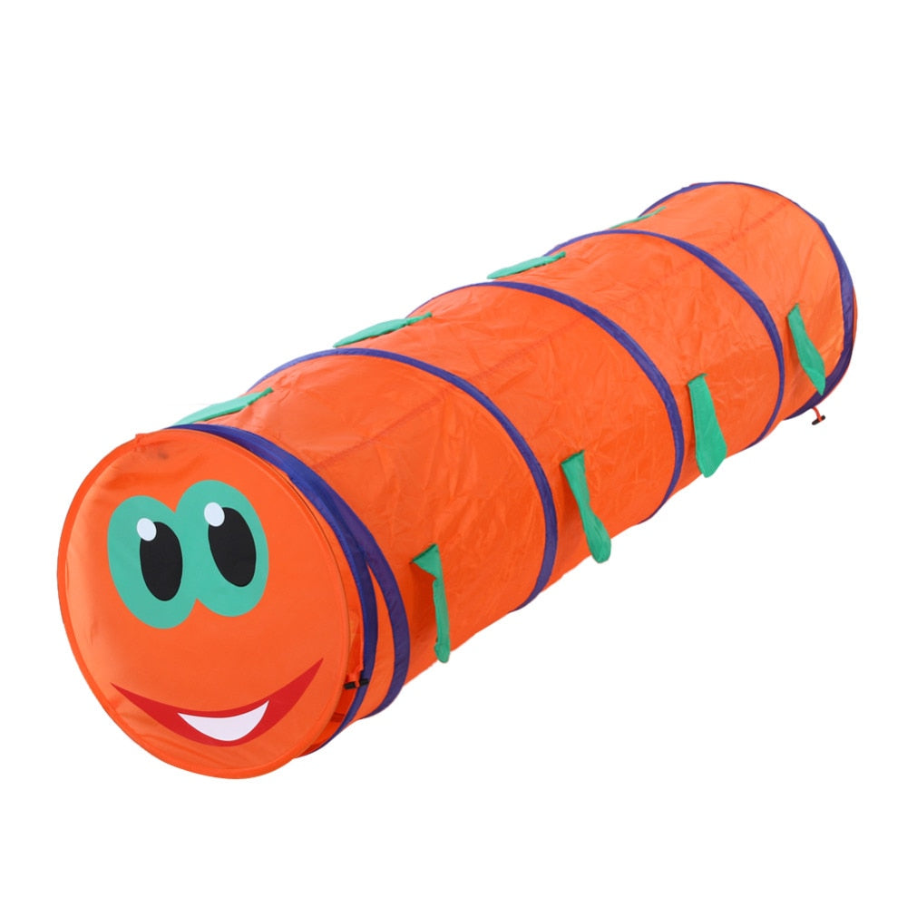 Kids Crawling Caterpillar Shape Tunnel Tent (Random Color)