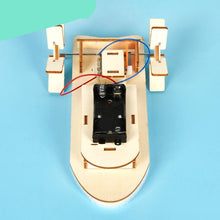 Load image into Gallery viewer, Kids DIY Electric Motor Boat Wooden Science Model Educational Toys