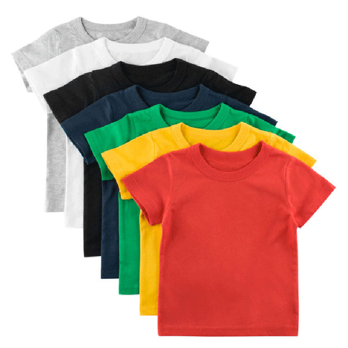 Plain T-Shirt Tops for Children
