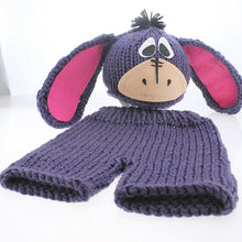 Load image into Gallery viewer, Baby Knitting Soft Hat And Pants Set