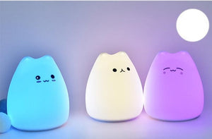 LED Cute Cat Night Light 7 Colorful