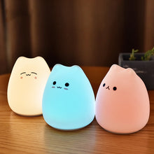 Load image into Gallery viewer, LED Cute Cat Night Light 7 Colorful