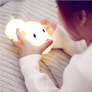 LED Night Light Silicone Dog Touch Sensor Dimmable Timer
