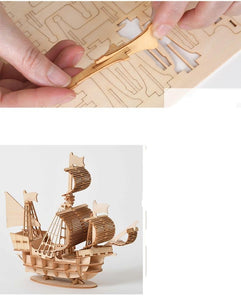 3D Wooden Puzzle Assembly Wood Kits