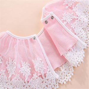 Cotton Lace Floral Baby  Bib
