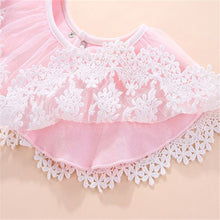 Load image into Gallery viewer, Cotton Lace Floral Baby  Bib