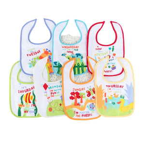 7 pcs. Animals Bibs