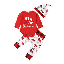Load image into Gallery viewer, Baby Romper Xmas Set