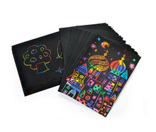 Load image into Gallery viewer, Magic Color Rainbow Scratch Art Paper Card Set