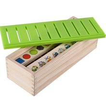Load image into Gallery viewer, Montessori Classification and Matching Game Wooden Box
