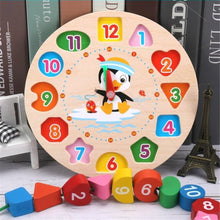Load image into Gallery viewer, Educational Wooden Beaded Geometry Digital Clock Puzzles