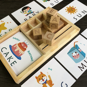 Montessori Learning Spelling English Alphabet Cards