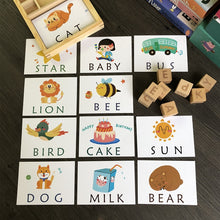 Load image into Gallery viewer, Montessori Learning Spelling English Alphabet Cards