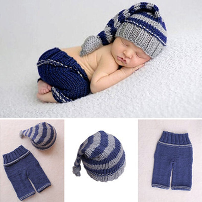 Newborn Baby Soft Crochet Knit Photography Prop Outfits