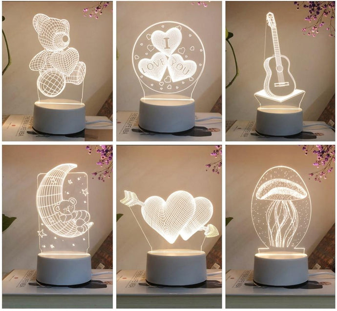 3D Stereo Night Light Small Table Lamp