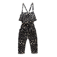 Load image into Gallery viewer, Summer Cotton Sleeveless Polka Dot Strap Jumpsuit
