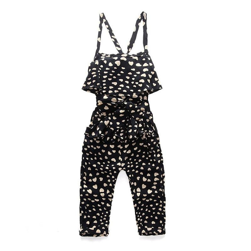 Summer Cotton Sleeveless Polka Dot Strap Jumpsuit