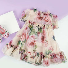 Load image into Gallery viewer, New Princess Floral Tulle Dress