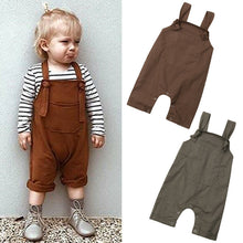 Load image into Gallery viewer, Casual Solid Dungarees Bib Pants Romper Outfits