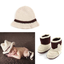 Load image into Gallery viewer, Newborn Baby Cowboy Outfit Photography Props
