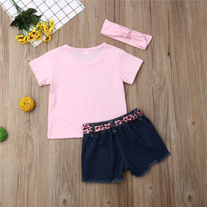 Summer Short Sleeve One Neck Tops with Denim Shorts Summer Outfit