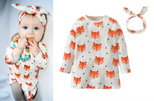 Load image into Gallery viewer, Foxy Baby Dress and Headband