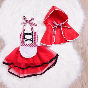 Newborn Cosplay Baby Girl Red Tutu Dress