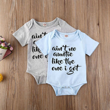 Charger l'image dans la galerie, Auntie Letter Design Play-suit Barboteuse Vêtements