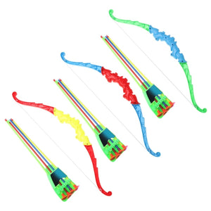 Outdoor Sports Archery Bow Toy With 4Pcs Soft Arrows
