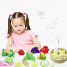 Load image into Gallery viewer, Cutting Food Plastic Baby Kitchen Toy