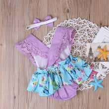 Load image into Gallery viewer, Adorable Summer Princess Floral Romper Dress
