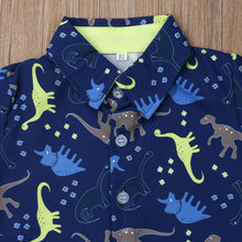 Load image into Gallery viewer, Summer Dinosaur Print Shirt Tops Short Pants 2-piece Outfit
