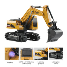 Load image into Gallery viewer, Remote Control Excavator Construction Vehicle